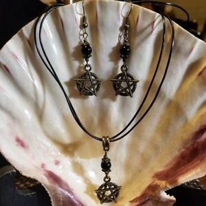 Pagan / Wiccan Pentagram Necklace Set